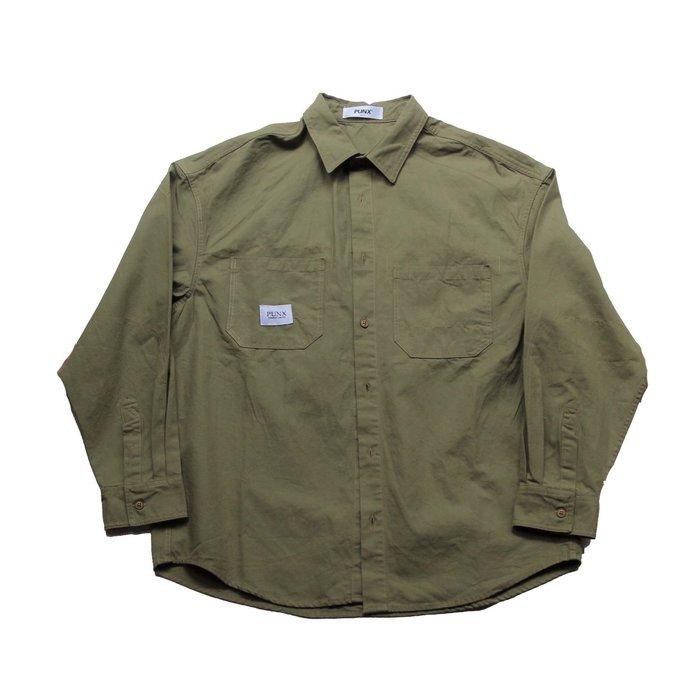 PUNX 19AW SPLICE WORK SHIRT 多口袋工裝襯衫