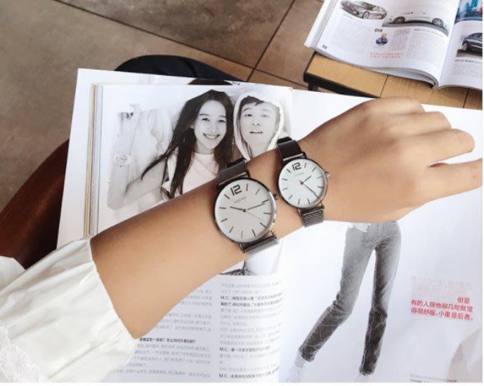 現貨 文青簡約百搭手錶 金屬錶帶 情侶 對錶 女錶男錶 平價時尚 學院風【MW04】