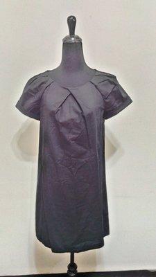 九成新~ 西班牙品牌 MANGO (CASUAL) 黑色 短袖 洋裝 ~ S ~