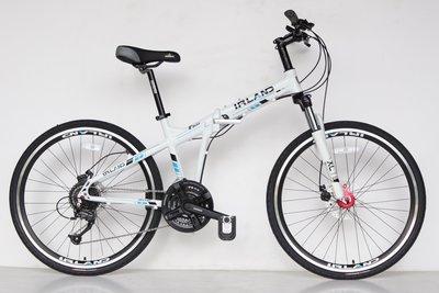 【愛爾蘭自行車】大折 鋁合金車架 線控碟剎 折疊 登山車 27速 26吋 指撥定位 前後快拆 IRLAND if610