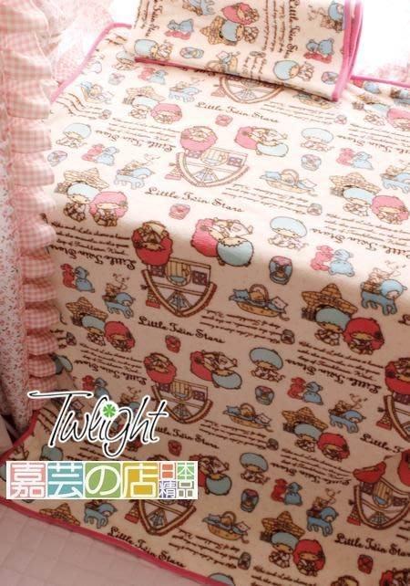 嘉芸的店 little twin stars 日本毛毯 可愛小雙子星日本毛毯 空調毯 寶寶毯 飛機蓋毯100*100CM
