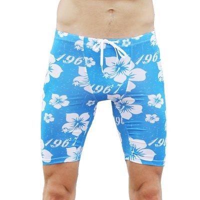【促銷】男士5分泳褲 沙灘沖浪緊身健身褲潛水 齊膝泳褲長泳褲泳衣