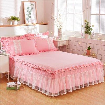 999全棉 蕾絲邊 床裙 床包 床罩 防滑 荷葉邊 床裙 三件套 純棉 150cm11NB29