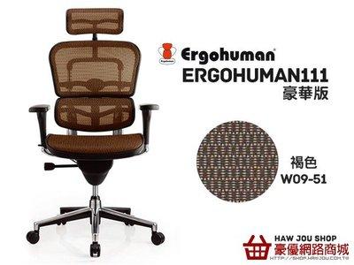 【人體工學生活館】 Ergohuman 111 豪華版 W09-51  美國網橘  ,(好禮五選一),【人體工學椅】