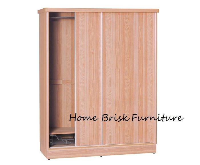 【宏興HOME BRISK】維拉妮卡4尺X7尺山毛色耐磨衣櫃,台北、桃園、基隆市區免運費《UU新品》