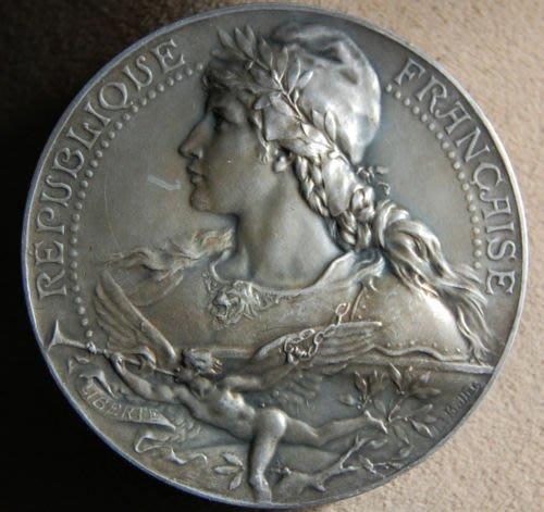 法國銀章 1932 o.j. France Caisse Montagris Silver Medal.