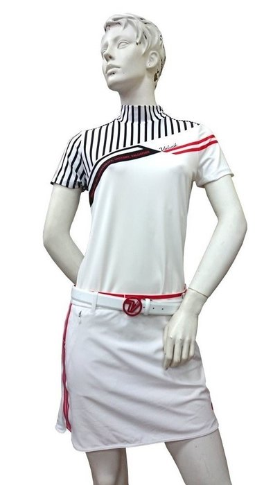 藍鯨高爾夫 2019 Volvik Vdot 女子高爾夫 春夏服飾 白短裙#VLCUJ511