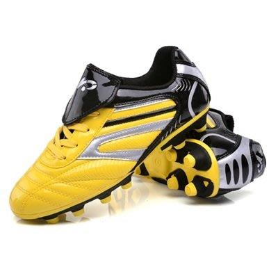 足球鞋 釘鞋-輕量絢麗亮皮耐磨防滑男運動鞋子2色71z9[獨家進口][米蘭精品]