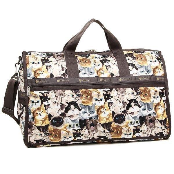 ♥ 小花日韓雜貨 ♥ -- Lesportsac 7185 大款防水包旅行袋媽媽包斜背包行李袋貓咪款