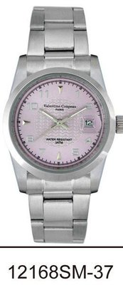 (六四三精品)Valentino coupeau(真品)(全不銹鋼)精準男錶(附保証卡)12168SM-37