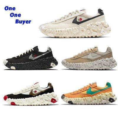 正品免運✨韓國連線購入Nike Undercover x Overbreak Overcast 米白 刺繡玫瑰 男女同款代購