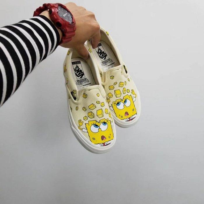 Vans Vault(SPONGEBOB)海綿寶寶 萬斯一腳蹬 休閒滑板鞋