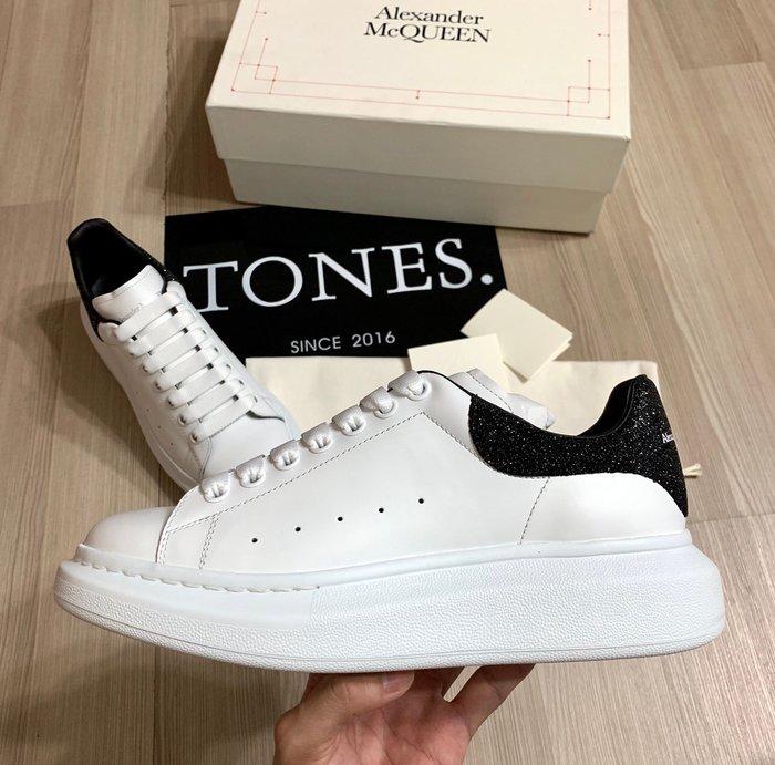 【TONES.】Alexander MCQueen 19FW 黑色閃粉 厚底鞋 新品上架