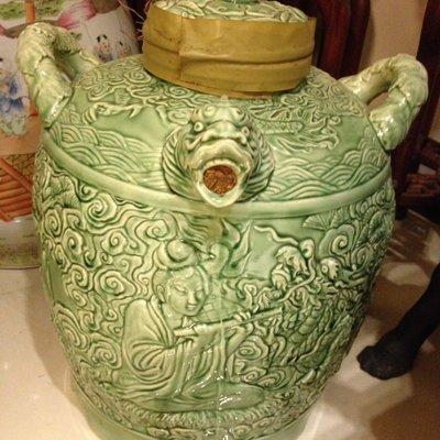 [KittyHawk]古董 巨型青龍陶瓷酒甕