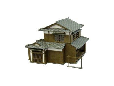 日本正版 Sankei 1/150 民家B MP03-49 紙模型 需自行組裝 日本代購