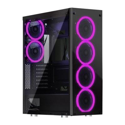 『高雄程傑電腦』aigo 愛國者 Phantom 鋼化玻璃 RGB風扇X6 電競機殼【實體店家】