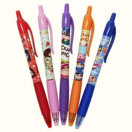 《現貨在台》日本CRAYON SHINCHAN蠟筆小新彩色中性5色筆/B款