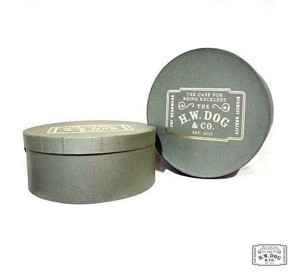 GOODFORIT / 日本製帽專門廠牌H.W.DOG&CO. Hat Box燙金Logo日本手工製作帽盒