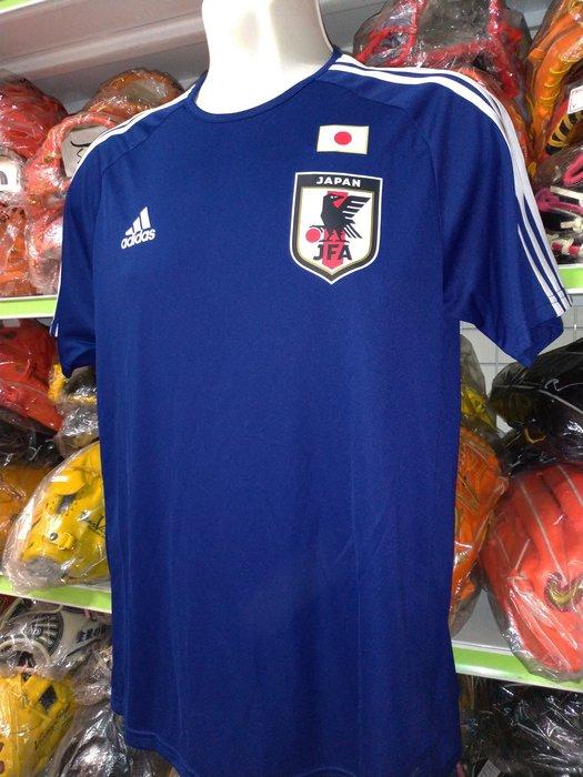 貳拾肆棒球--日本帶回日本足球代表隊快速排汗練習背號T/L約50x71cm//adidas製作