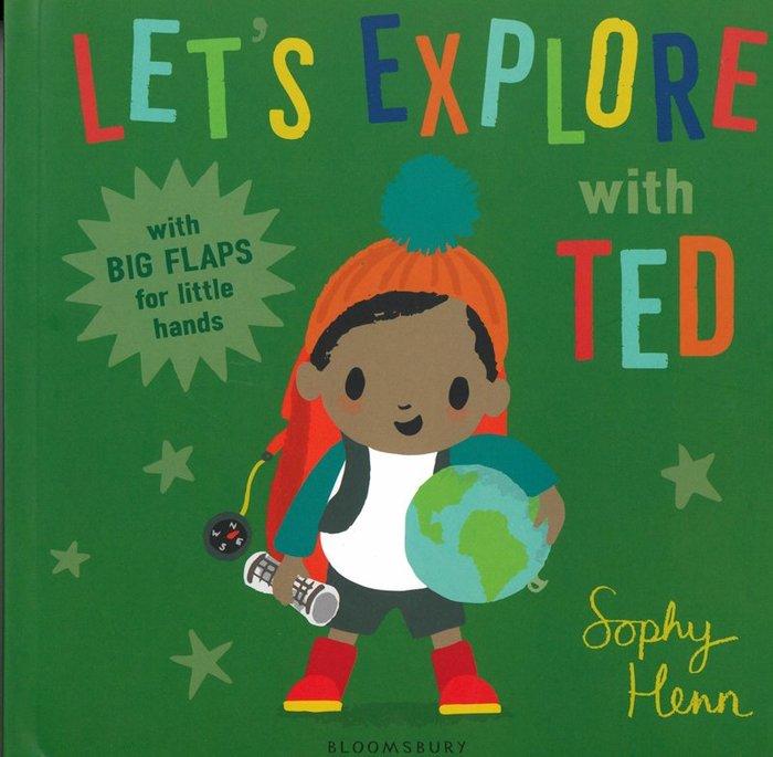 *小貝比的家*LET'S EXPLORE WITH TED/硬頁/0~2歲/翻翻書