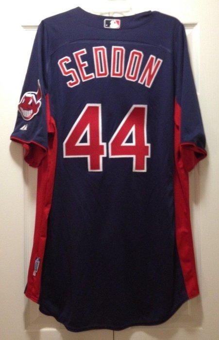 2015 MLB Cleveland Indians 印地安人隊 #44 SEDDON GAME USED JERSEY