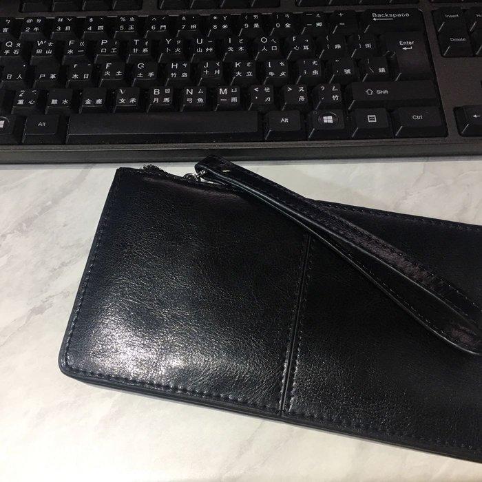 經典牛皮 暗黑 長夾 錢包 卡包 包包