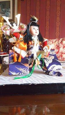 《廣寶閣》日本五月端午擺飾人偶 日本制 武者童人形系列 若殿舞兜飾り A2