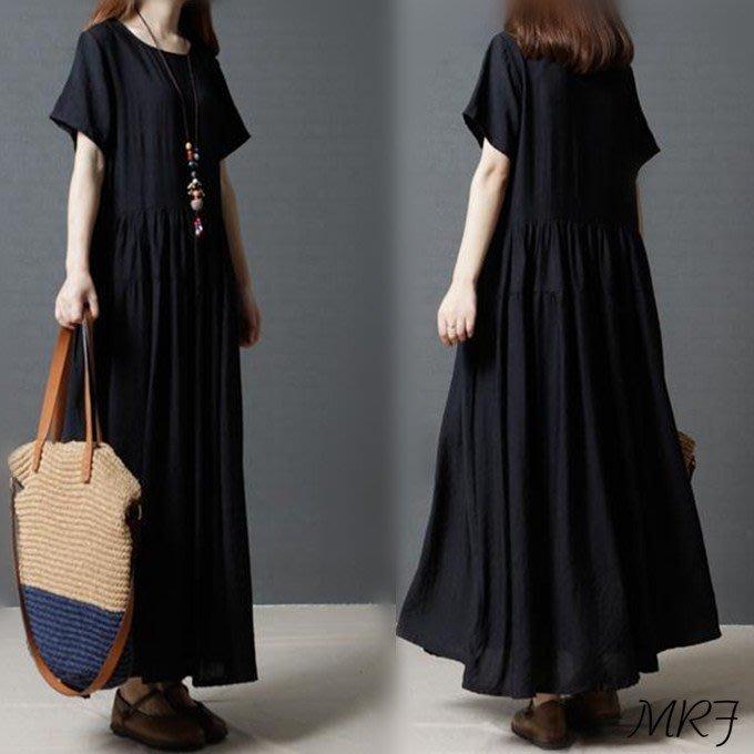 ♥ 韓 實拍 ♥ 大碼文藝復古連衣裙 B129 洋裝 連身裙