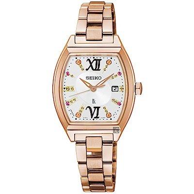 可議價.「1958 鐘錶城」SEIKO精工錶 LUKIA 時尚限量太陽能酒桶型腕錶(SUT352J1)-26mm