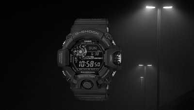 預訂 佐敦門市 全新 Casio G-Shock AllBlack 全黑 貓人 Rangeman 碳纖帶 Carbon Fibre 反顯 GW-9400J-1B