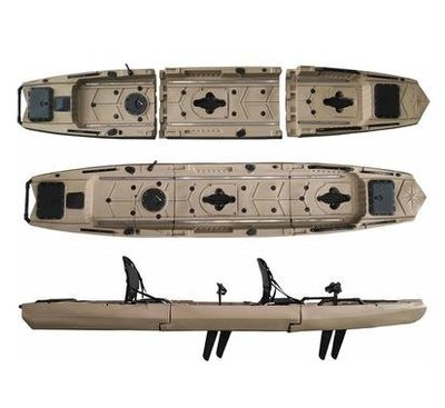 【新款分段式組合腳踏釣魚船-A款單人和B款雙人可選-可拆卸】可拆卸新款組合分段式釣魚船 腳踏船 方便攜帶-7682040
