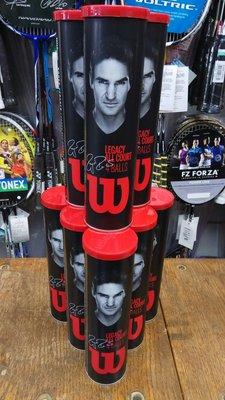 總統網球(自取可刷國旅卡) Roger Federer Legacy Tennis Ball 費德勒 4顆裝 紀念網球