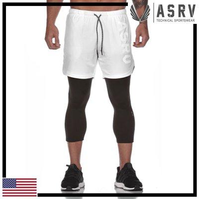 ►瘋狂金剛◄白 ASRV 0194 Train-Lite™ 2 in 1 Legging Short 兩件式運動褲
