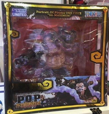 海賊王 超霸氣最新款四檔路飛POP版盒裝模型