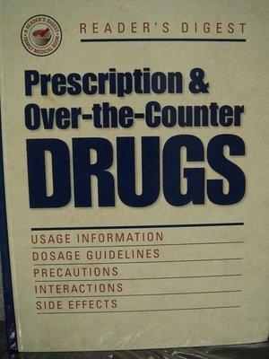 全新實用藥品原文書【Prescription & Over-the-counter Drugs】,只有一本,低價起標無底價!
