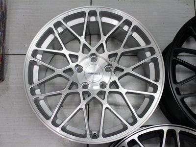 ~三重長鑫車業~ASGA R40 網狀銀底車刀面 5孔 108/112/114.3 18吋鋁圈 8.5J 可閃多活塞卡鉗