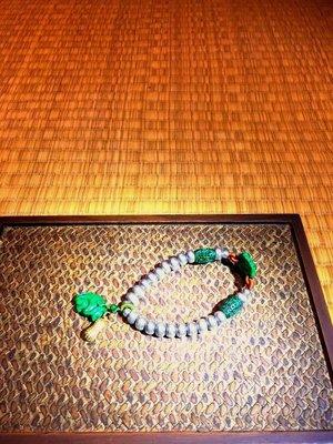 (店鋪不續租清倉大拍賣)~[好事花生]老銀珠串黃金手鍊,特價18880元