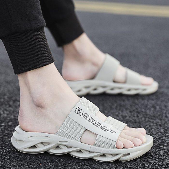 6Du spot~ins潮2020夏季新款拖鞋男室外時尚個性休閑涼拖海邊軟底防滑涼鞋