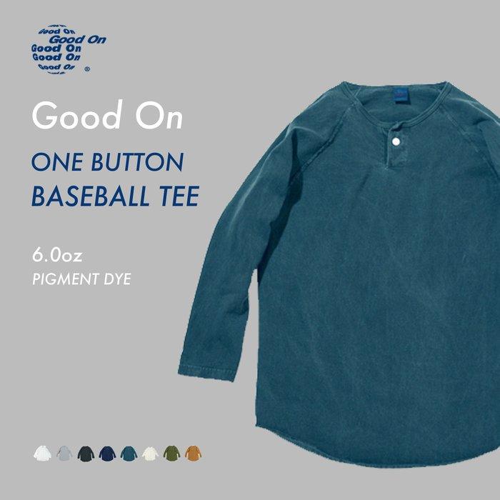 WaShiDa【GOLT1505P】Good On 日本品牌 後染 色落 亨立領 一顆釦 七分袖 棒球T恤- 現貨、預訂