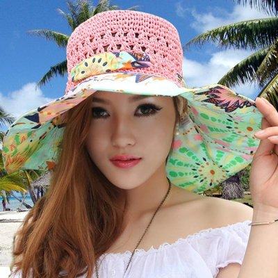 帽子女夏天百搭海邊出游防紫外線大檐太陽帽沙灘帽遮陽帽防曬草帽