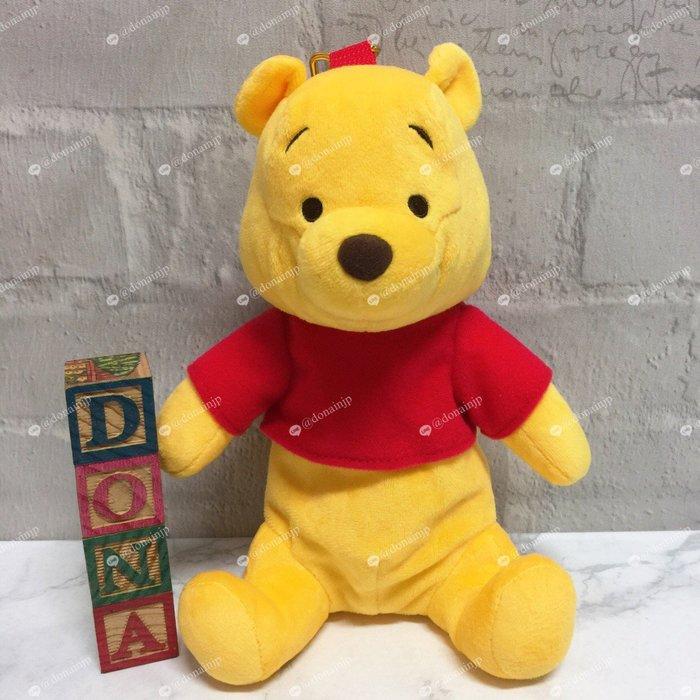 【Dona日貨】日本迪士尼store限定 小熊維尼立體造型純真模樣 包包吊飾/小物包 C32