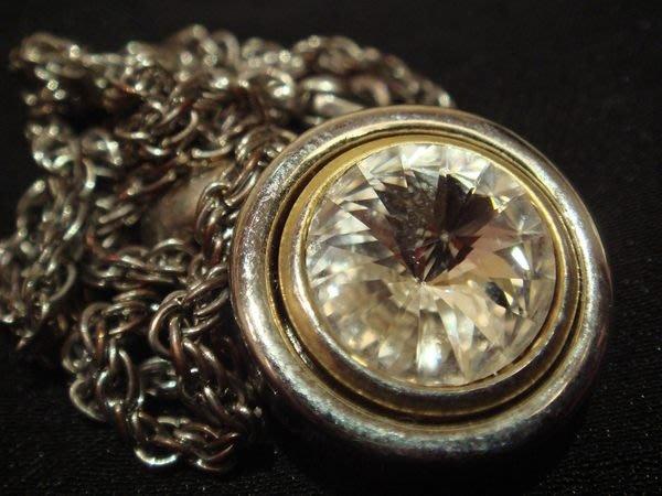 賣家珍藏,香港帶回鑲水鑽銀色金屬項鍊,很閃喔,低價起標無底價!本商品免運費!