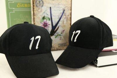 紫荊【客製化 有義氣17 棒球帽 黑色...