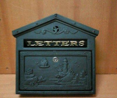 房屋造型鍛鐵信箱