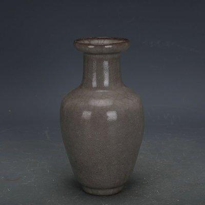 ㊣姥姥的寶藏㊣ 南宋官窯豬毛孔冰裂釉小花瓶  出土古瓷器古玩收藏擺件手工瓷