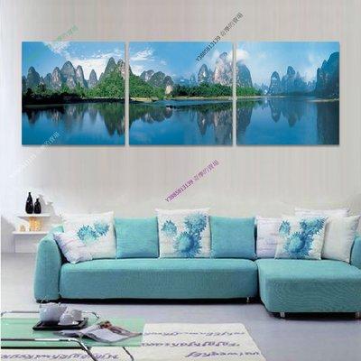 【30*30cm】【厚1.2cm】山水風景畫-無框畫裝飾畫版畫客廳簡約家居餐廳臥室【280101_421】(1套價格)