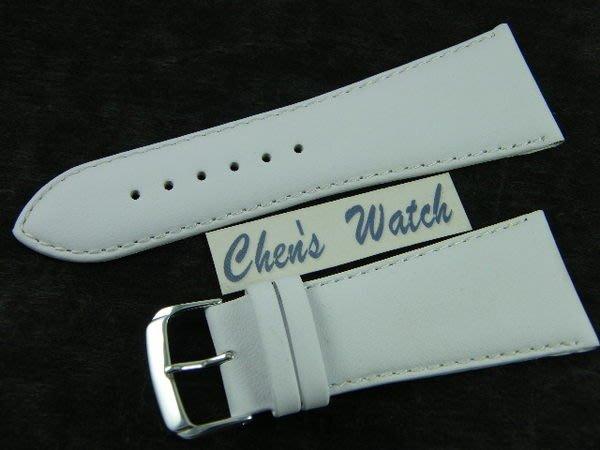 【錶帶家】『頂級代用』LIMA 義大利進口小羊皮錶帶素面真皮錶帶 30mm 收 22mm 白色 粉紅
