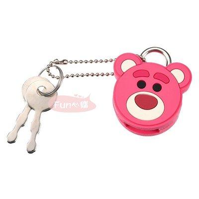 日本迪士尼 熊抱哥 大頭 鎖頭 簡易鎖。現貨【Fun心購】