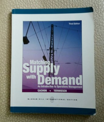 【書鄉世家】Matching Supply With Demand (Third Edition) 原文書