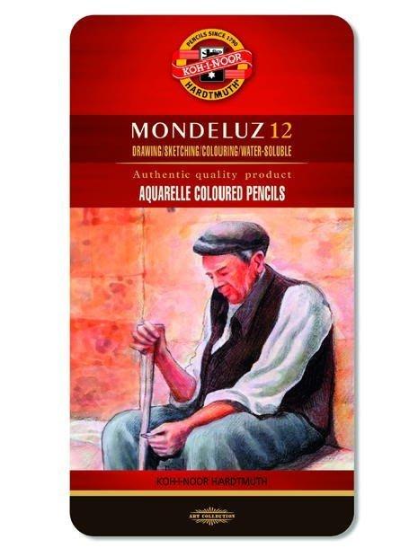 【Artshop美術用品】捷克 KOH-I-NOOR MONDELUZ 頂級水性色鉛筆 (12色) 鐵盒